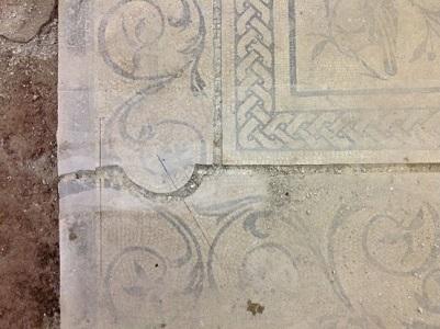 12 Giunto divisione mosaico tesserine rimosse
