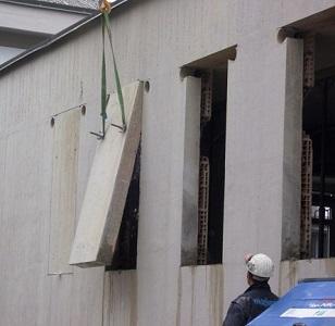 29 rimozione cemento tagliato con la tagliamuri