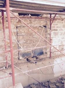 3 blocco di muratura tagliato a filo