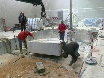 4 sollevamento cemento tagliati pulpito