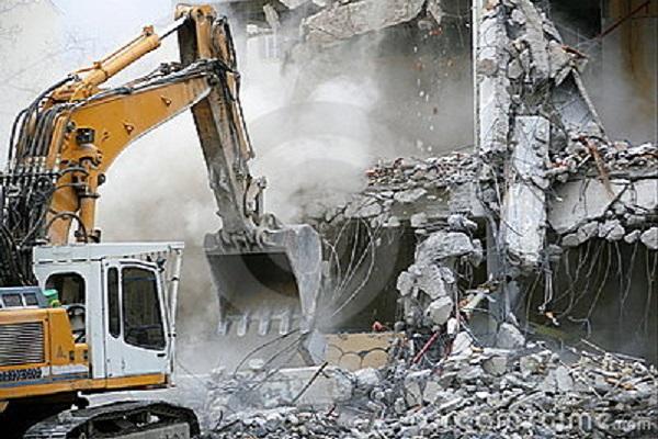 Demolizione per spinta 600 x 400
