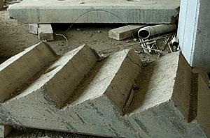 Taglio rampa di scala 400 x 300