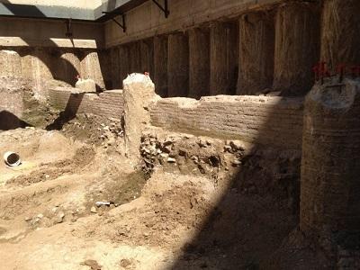 3 archeologia, muro di epoca romana